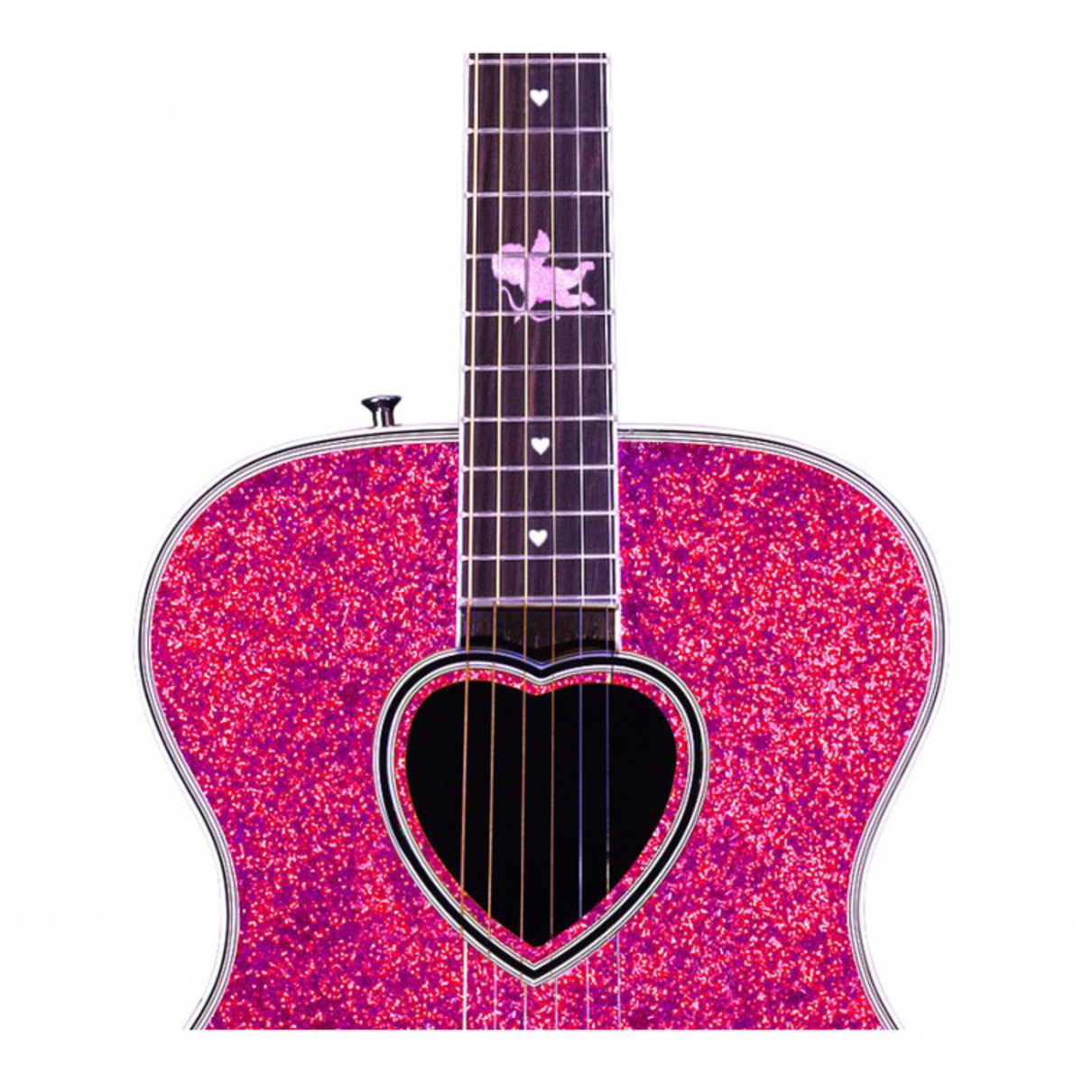 DISC Daisy Rock Pixie Cupid Red Hot Luv Acoustic Guitar at ...