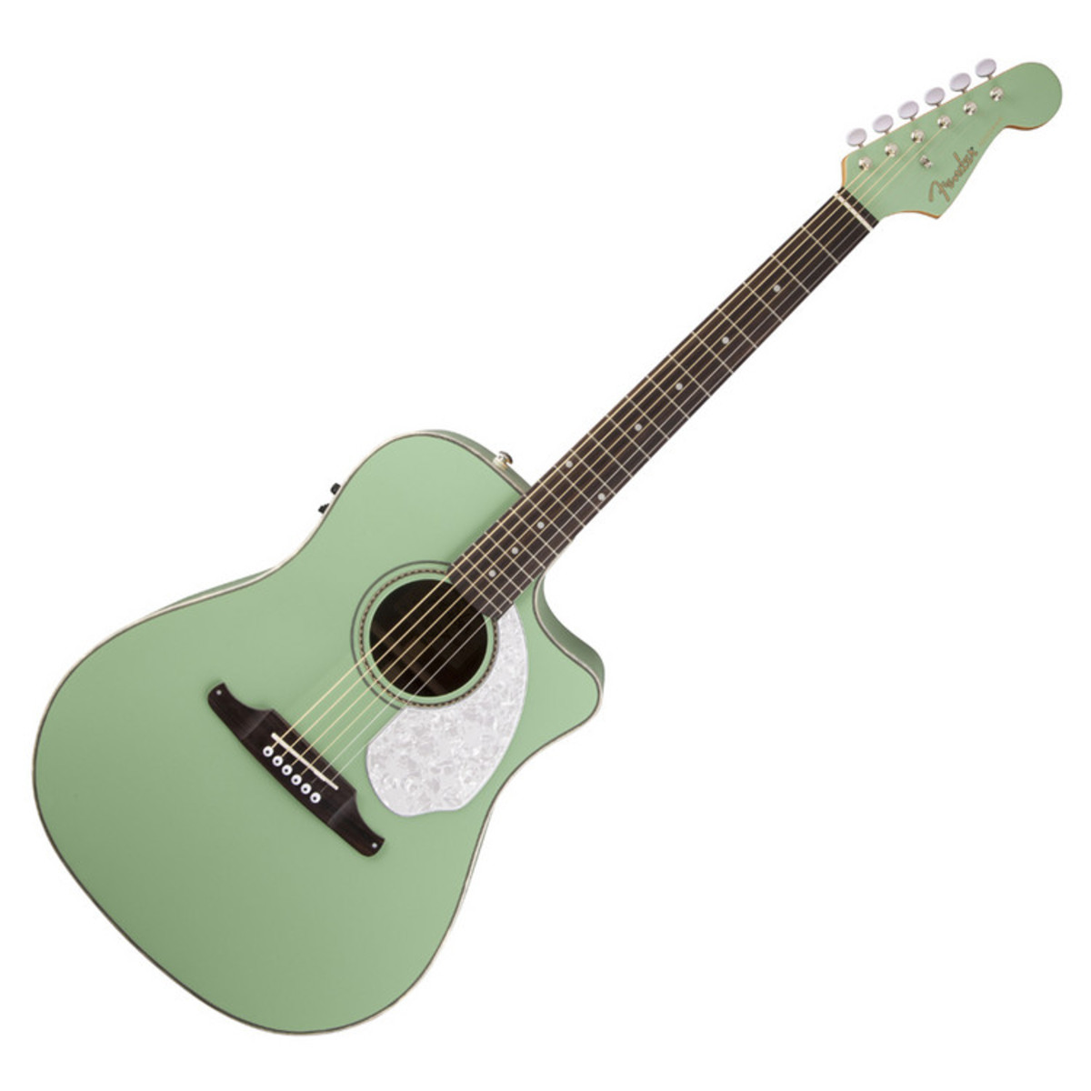 fender sonoran sce electro acoustic guitar rw surf green at. Black Bedroom Furniture Sets. Home Design Ideas