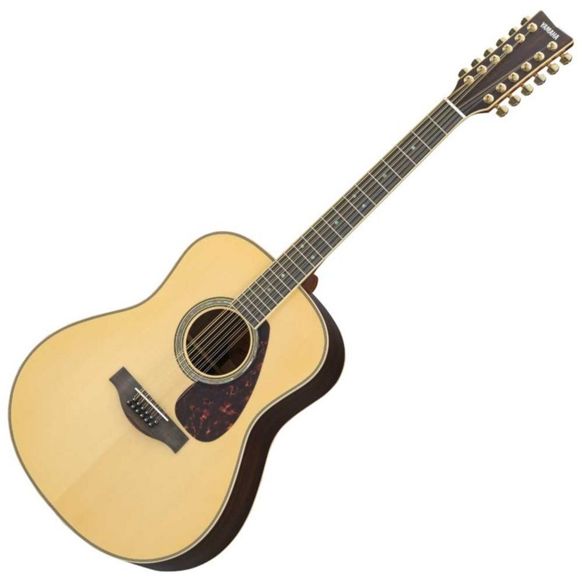 yamaha ll16are12 12 string acoustic guitar natural at