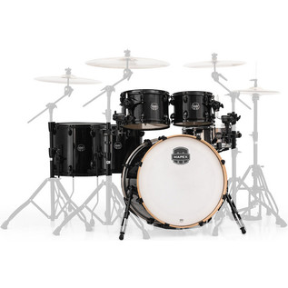 Mapex Armory 628S Rock Fusion 22in Shell Pack, Trans Black