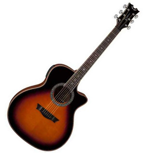 Dean Exotica Plus Solid Top Electro Acoustic Guitar, Tobacco Sunburst