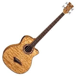 Dean Exotica Quilt Ash Electro Acoustic Bass Guitar, Natural