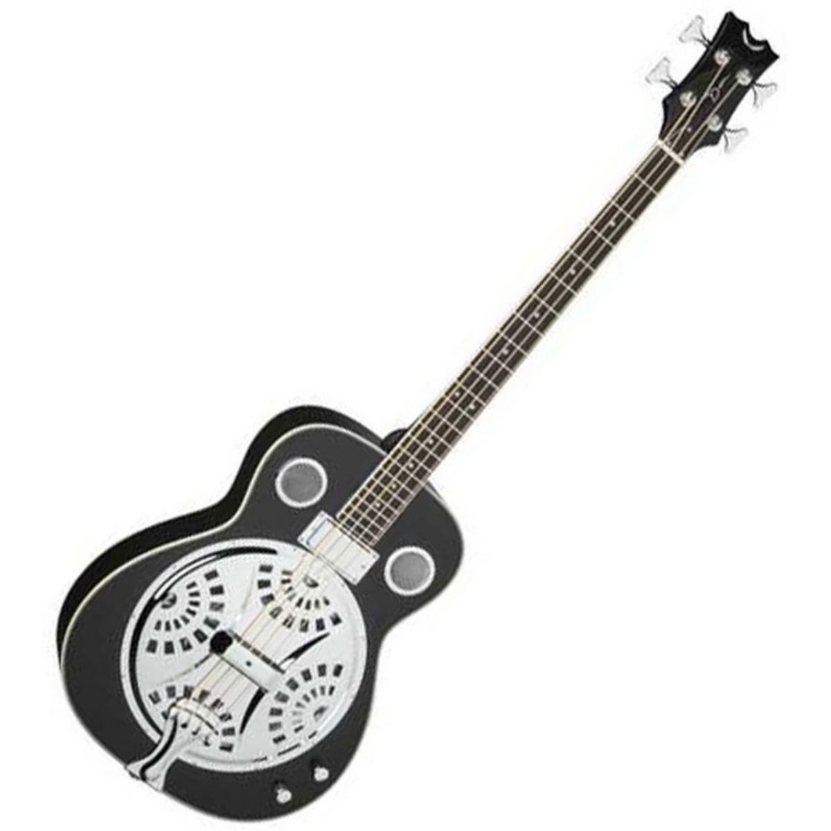 Dean Resonator Electro Acoustic Bass Guitar Classic Black
