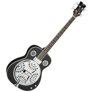 Dean Resonator Electro Acoustic Bass Guitar, Classic Black