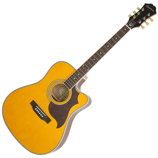 Epiphone FT-350SCE Electro Acoustic Guitar Min-ETune, Antique Natural