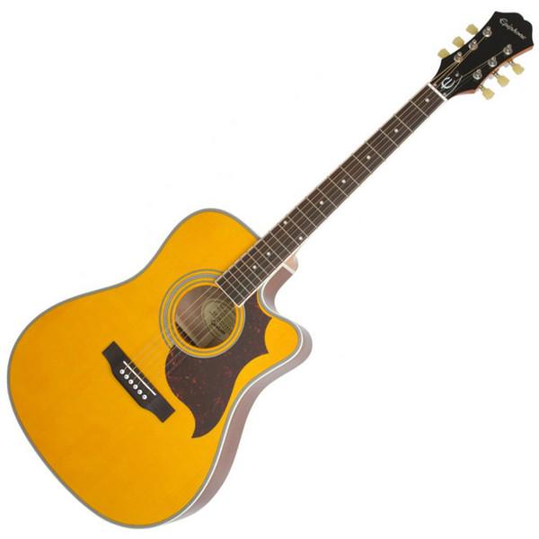 Epiphone FT-350SCE Electro Acoustic Guitar Min-ETune, Antique Natural