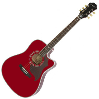 Epiphone FT-350SCE Electro Acoustic Guitar Min-ETune, Wine Red