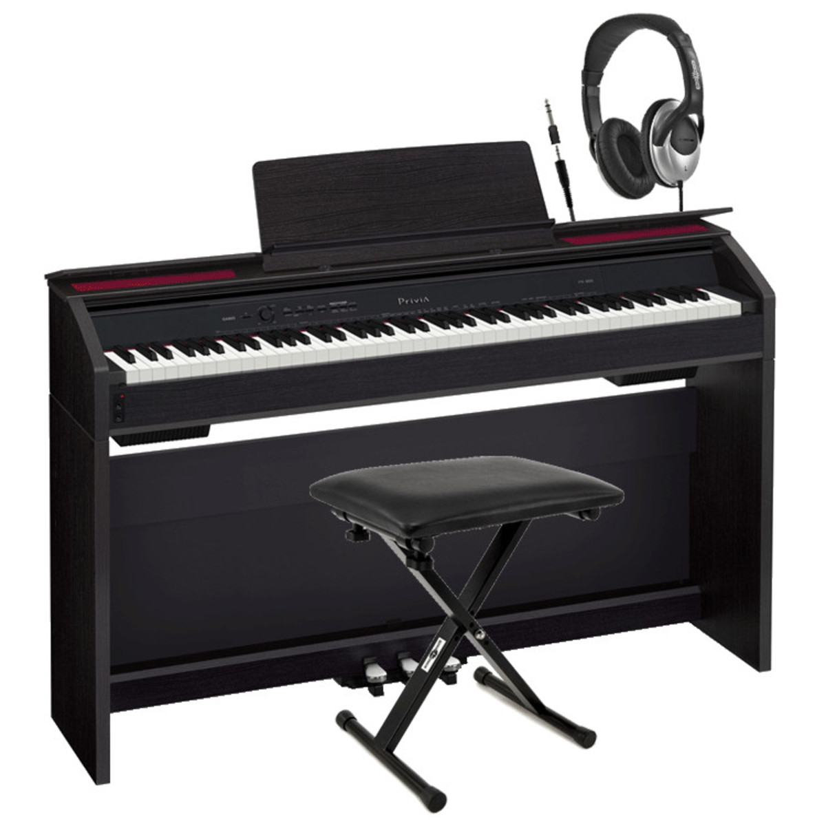 disc casio privia px 850 digital piano with headphones and stool at. Black Bedroom Furniture Sets. Home Design Ideas