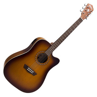 Washburn WD7SCE Dreadnought Acoustic, Antique Tobacco Burst