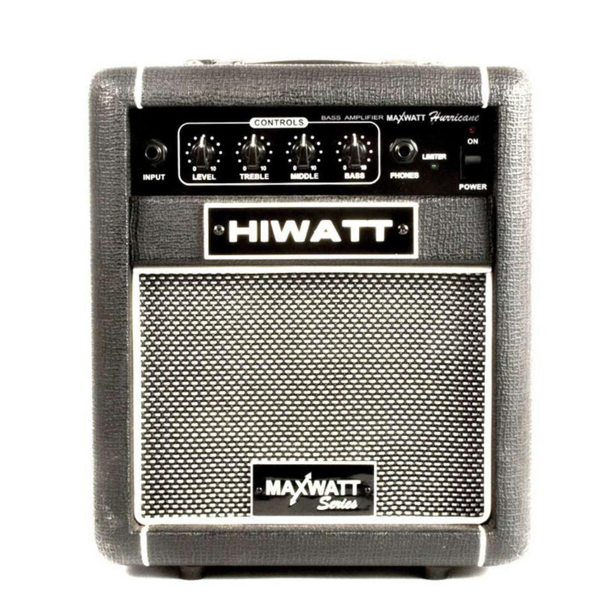 Amp logo hiwatt maxwatt series hurricane 10w bass practice amplifier