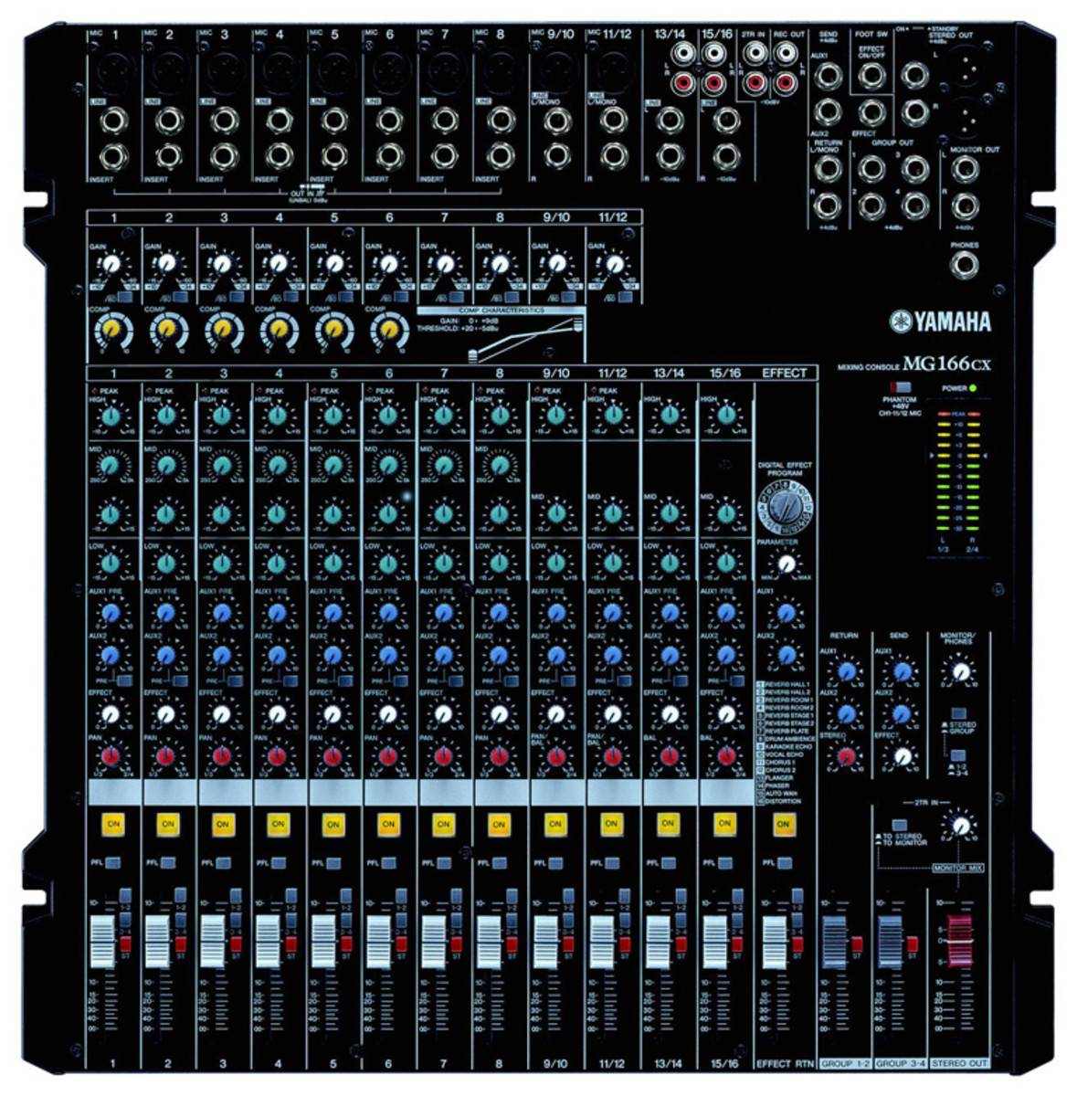yamaha mg166cx table de mixage analogique. Black Bedroom Furniture Sets. Home Design Ideas