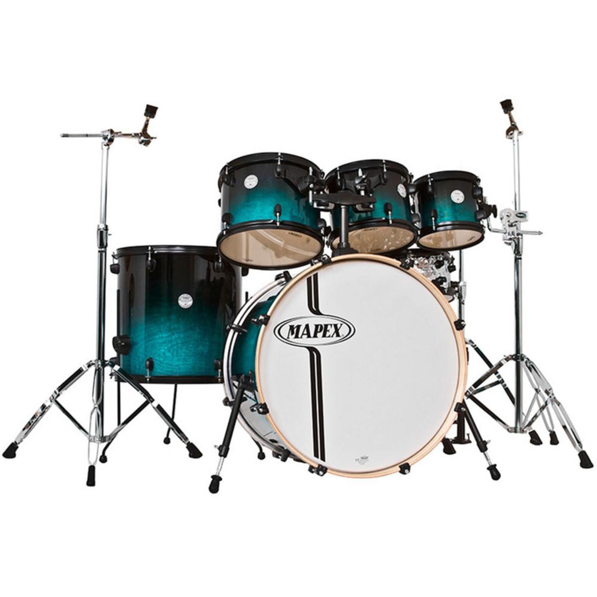 mapex horizon birch rock fusion 6pc 22in drum kit sapphire fade at. Black Bedroom Furniture Sets. Home Design Ideas