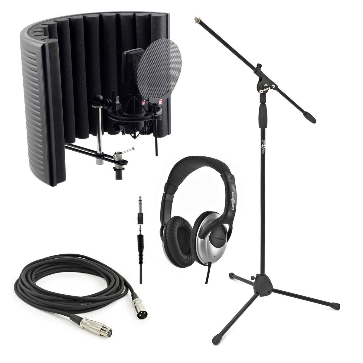 Image of sE Electronics X1 Studio Bundle with Headphones and Mic Stand
