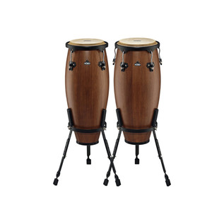 Nino Percussion Wood Standard Conga Sets, Walnut Brown Matte