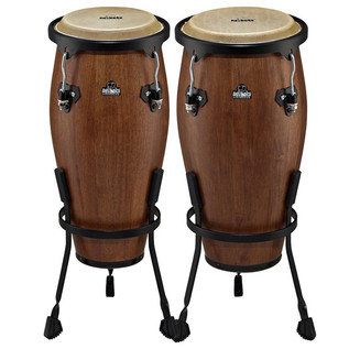 Nino Percussion Wood Small Conga Sets, Walnut Brown Matte