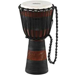 Meinl NINO-ADJ3-M African Rope Tuned Wood Djembe, Earth Rhythm