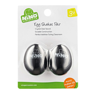 Meinl NINO540BK-2 Percussion Plastic Egg Shaker Pair, Black