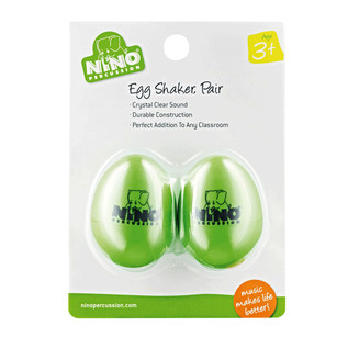 Meinl NINO540GG-2 Percussion Plastic Egg Shaker Pair, Grass-Green