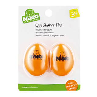 Meinl NINO540OR-2 Percussion Plastic Egg Shaker Pair, Orange