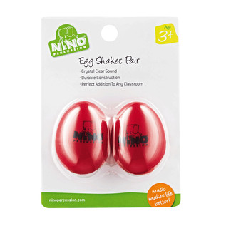Meinl NINO540R-2 Percussion Plastic Egg Shaker Pair, Red