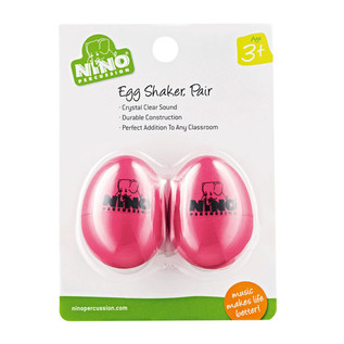 Meinl NINO540SP-2 Percussion Plastic Egg Shaker Pair, Strawberry Pink
