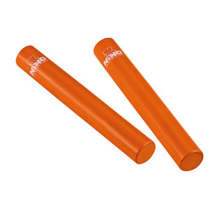 Meinl NINO576OR Percussion 7 inch Rattle Stick, Orange (Pair)