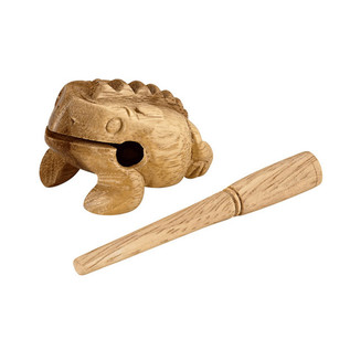 Meinl NINO517 Percussion X-Small 2 1/4 inch Wood Frog Guiros, Natural
