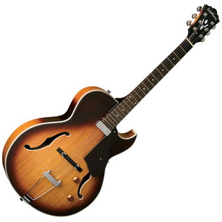Washburn HB15CTS Hollow Body Series Guitar, Tobacco Sunburst