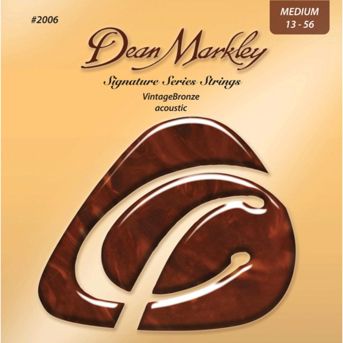 Image of Dean Markley Med Vintage Bronze Signature Acoustic Strings 13-56