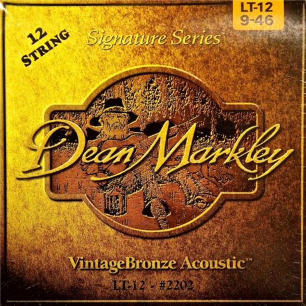 Image of Dean Markley Light 12-St Vintage Bronze Sig Acoustic Strings 9-46/24