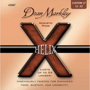 Dean Markley Custom Light Helix Phosphor Acoustic Strings, 12-53