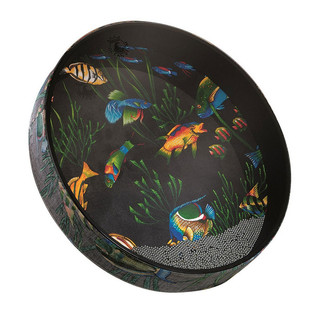 Remo 2.5 Inch x 12 Inch Ocean Drum, Fabric Fish Finish