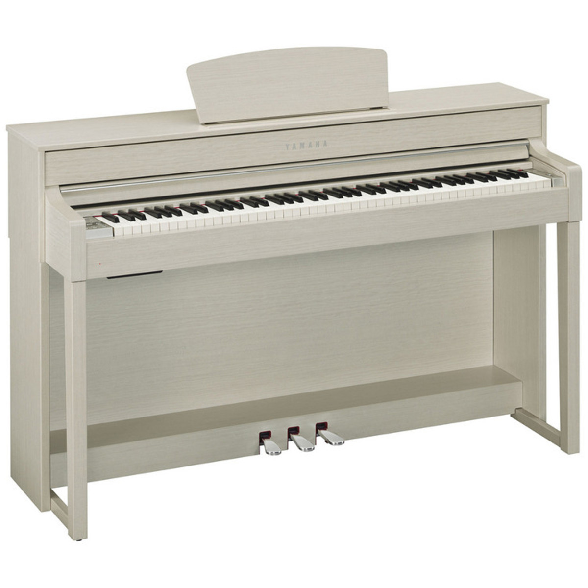 Yamaha clavinova clp535 digital piano white ash at for White yamaha piano