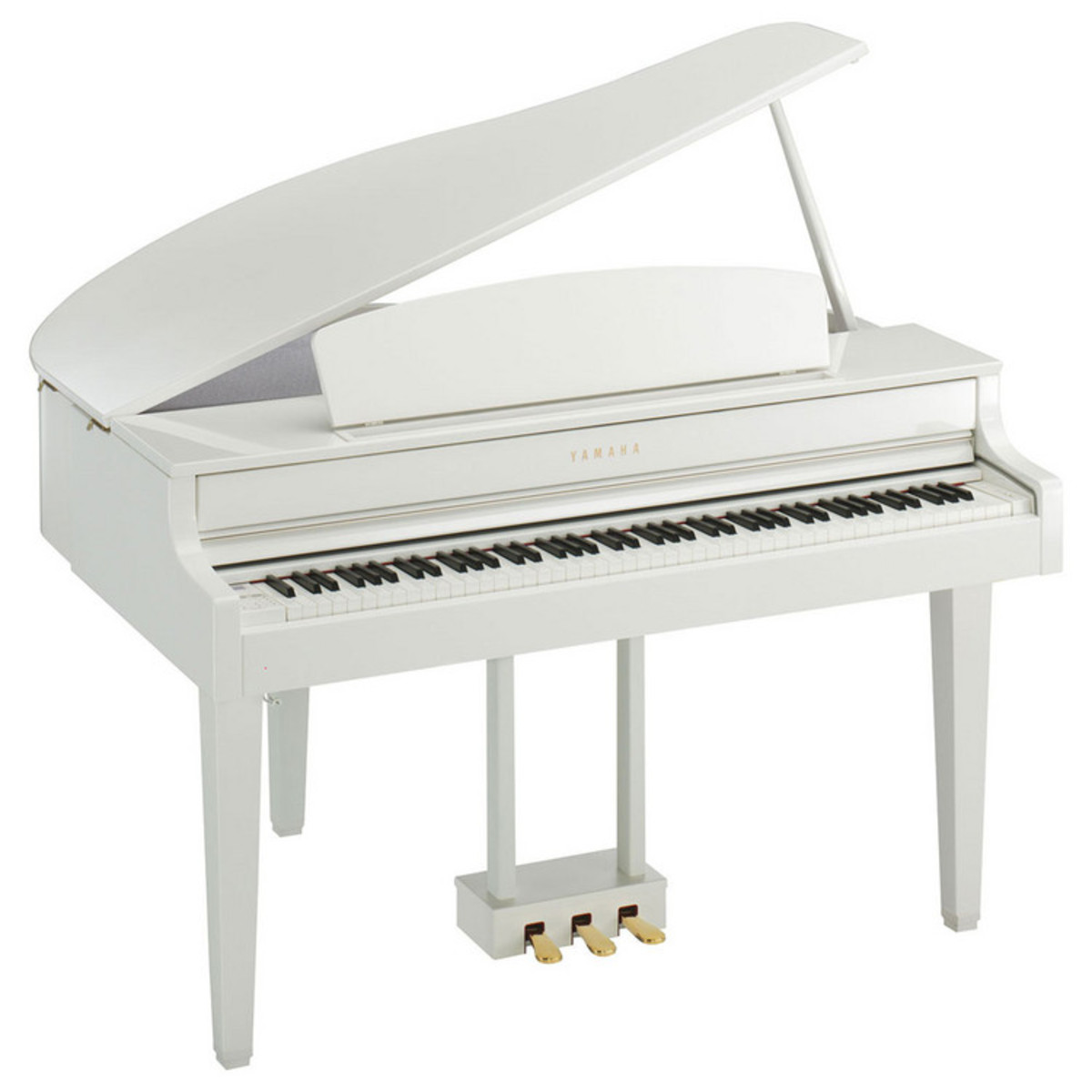Yamaha clp565 digital grand piano polished white at for White yamaha piano