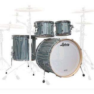 Ludwig Signet 105 TeraBeat 4Pc Shell Pack, Alpine Blue
