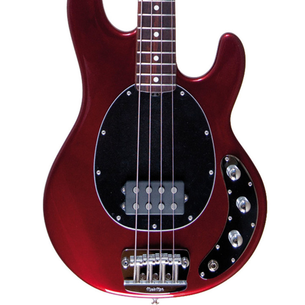 music man stingray 2eq bass guitar rw candy red with gigbag at. Black Bedroom Furniture Sets. Home Design Ideas