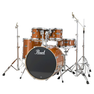 Pearl Export Lacquer Fusion Drum Kit, Honey Amber