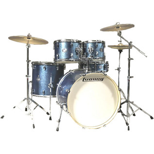 Ludwig Element Drive 5 Piece 22'' Drum Kit, Azure Blue Sparkle