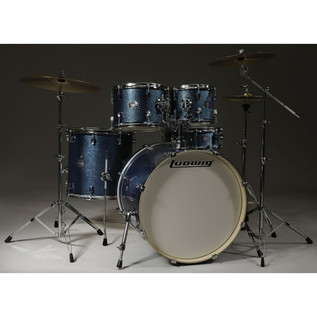 Ludwig Element Drive 5 Piece 22 Inch Drum Kit, Azure Blue Sparkle