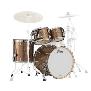 Pearl Masters BCX 4 Pc American Fusion Shell Kit, Gold Bronze Glitter