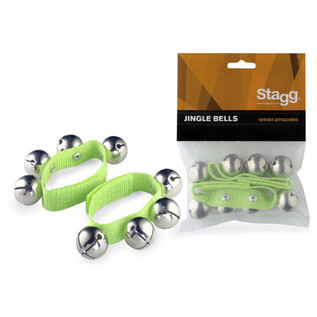 Stagg Wrist Bells, Green Pair