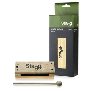 Stagg Small Thai Wooden Block, With Mallet