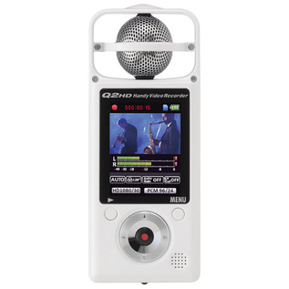 Zoom Q2 HD Handy Video Recorder With Stereo Microphone, White