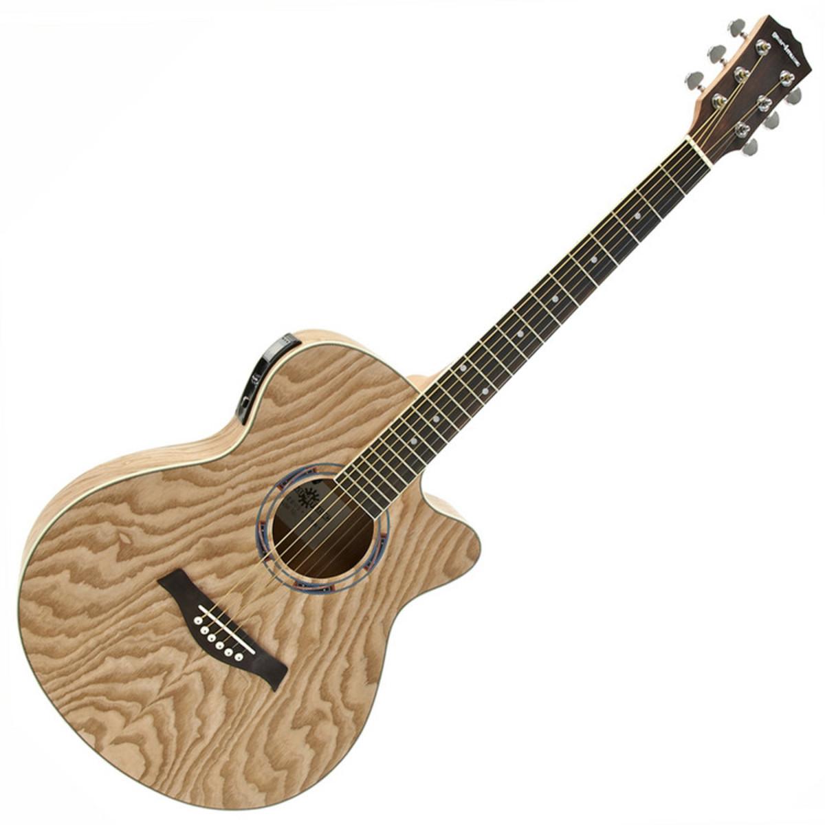 guitare electro acoustique pan coup unique luxe par gear4music willow. Black Bedroom Furniture Sets. Home Design Ideas
