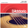 D'Addario EJ17 Cordes en bronze phosphoreux pour guitare acoustique, Medium, 13-56