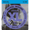D'Addario EXL115 elgitarrsträngar, Medium/Blues-Jazz 011-049