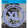 D'Addario EXL116 Cordes en nickel pour guitare électrique, Medium Top/Heavy Bottom, 11-52