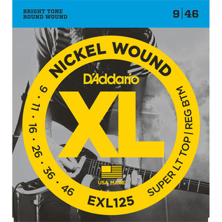 D'Addario EXL125 Nickel Wound, 9-46