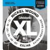 D'Addario EXL148 nikkel sår, Extra-Heavy, 12-60
