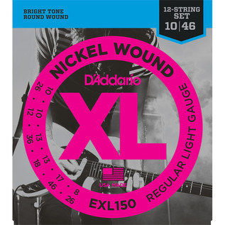 D'Addario EXL150 Nickel Wound Super Light, 12-String 10-46